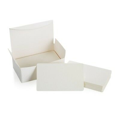 Blank White Cardboard paper Message Card Business Cards Word Card DIY Tag G Y2U5