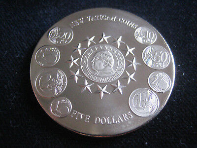 "Mds Liberia Five 5 Dollars 2004 ""new Vatican Coins"""
