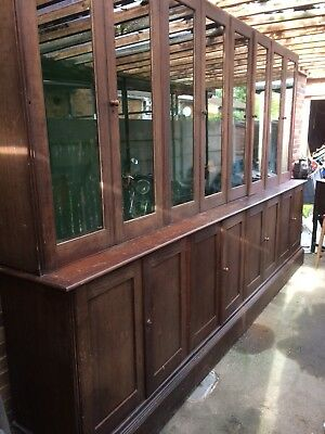 Victorian Gun Cabinet Mid 19th Centry Shop Counter Kitchen Cabinet