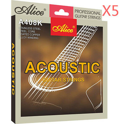 3/5 Set Alice Steel Core Acoustic Guitar Strings A408K-L For Advanced Practice