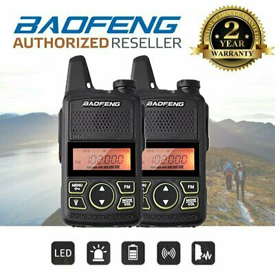 2x Baofeng BF-T1 UHF FM Ham Mini  Long Range Two Way Walkie Talkie Radio
