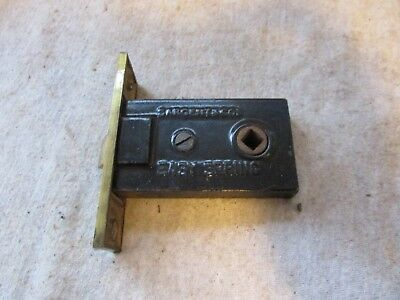 "Antique Sargent & Co Easy Spring 3"" x 1.75"" Brass Face Passage Door Lock"