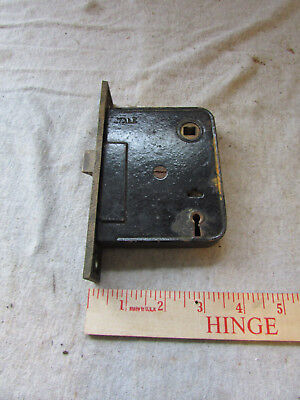 VTG Antique Mortise Lock Yale Made in USA Brass Face Entry Door
