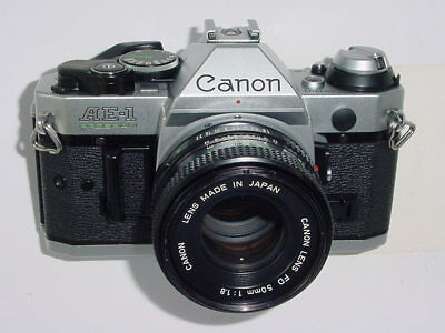 Canon AE-1 PROGRAM 35mm SLR Film MANUAL Camera with Canon 50mm F1.8 FD Lens