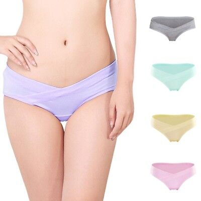 1pc Maternity Panties Solid Color Seamless Underpants Soft Pregnant Women Briefs