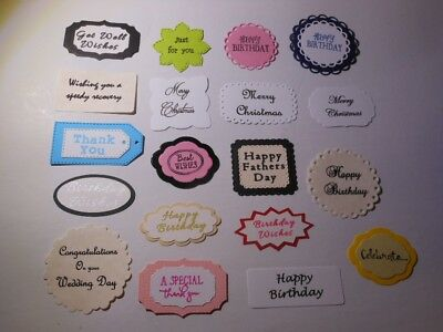 Greeting Sentiments - Birthday, Christmas, Wedding, Get Well + more - Cardmaking