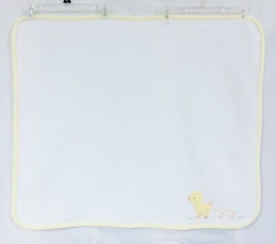 Carters Child Of Mine White Yellow Baby Blanket Ducks Chickens Squeaks