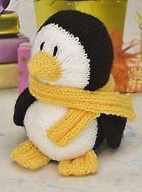 Knitting Pattern - Toy - Little Penguin Festive Friend - Double Knit - KBP-210