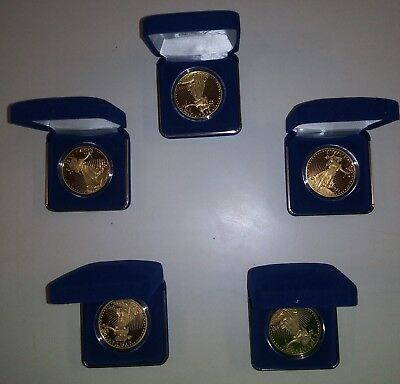 Lot of 5, 1933 Gold Double Eagle Tribute Proof 24kt Clad