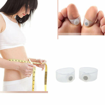 1 Pair Keep Slim Health Slimming Fit Loss Weight Silicone Magnetic Toe Ring  F#