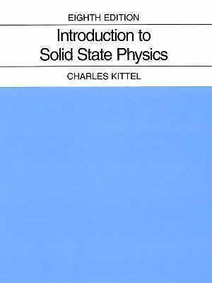 Introduction To Solid State Physics, 8Ed