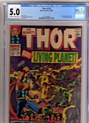 THOR 133 CGC 5.0 1st FULL EGO GUARDIANS OF THE GALAXY THANOS CELESTIALS/ETERNALS