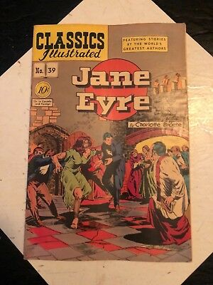 Classic Illustrated Jane Eyre No39 no date Comic  Book ~ Charlotte Bronte