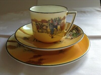 Royal Doulton Series Ware Coaching/Hunting trio. Cup, saucer and plate (5)