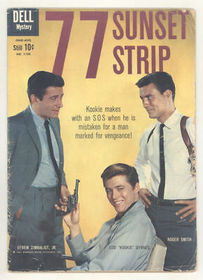 1960 comic book 77 SUNSET STRIP Dell 4-color #1106. Photo cover, TOTH art