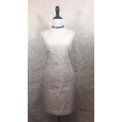 French Connection Dress Ivory Cream Textured A Line Prom Wedding Size 8