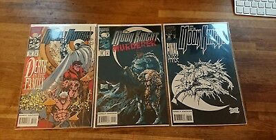 Marc Spector: Moon Knight #58 #59 #60 low print run final issues Platt covers