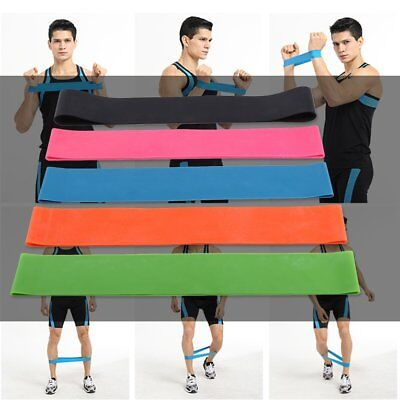 Elastic Resistance Bands Gym Fitness Training Yoga 5 Level Exercise Loop Bands