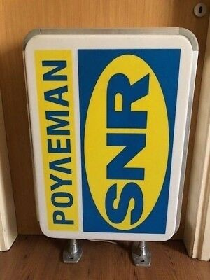 Vintage Snr Wheel Ball Bearing Plastic Wall Sign Lighted Double Sided Vgc