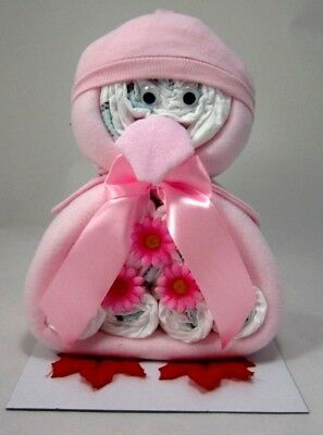 Cute Penguin Baby Girl Nappy Cake Maternity Leave New Born Baby Shower Gift