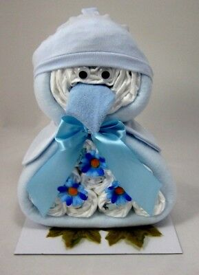 Cute Penguin Baby Boy Nappy Cake Maternity Leave New Born Baby Shower Gift