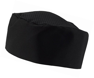 Black Chef Hat Adjustable One Size Fits Most Kitchen Dining