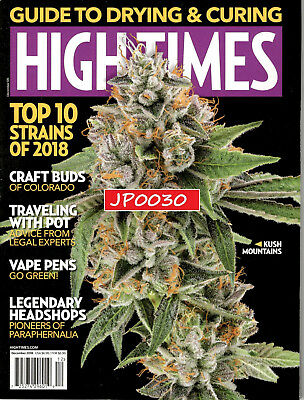 High Times December 2018, Top 10 Strains of 2018, Brand New/Sealed