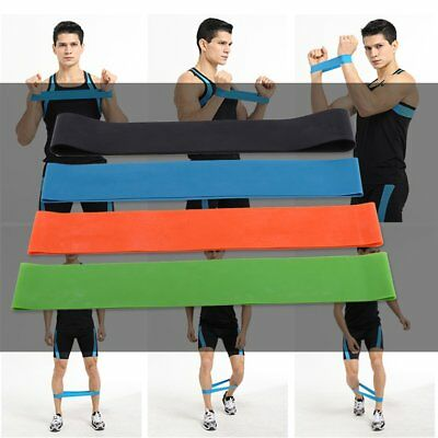 Elastic Resistance Bands 4 Level Exercise Loop Bands Gym Fitness Training Yoga &
