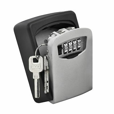 Key Lock Box 4 Digit Combination Lock Boxes for Keys Wall Mounted Weather Res...