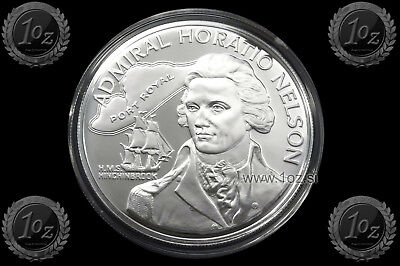 JAMAICA 10 DOLLARS 1976 (Admiral HORATIO NELSON) SILVER Comm coin * PROOF