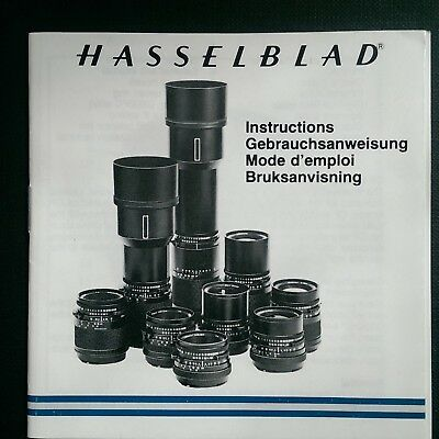 Hasselblad Instructions Manual Multi Languages For Cf Lenses Printed Sweden 1994