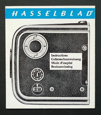 Hasselblad A70 Instructions Manual Multi Languages Printed In Sweden On 1976