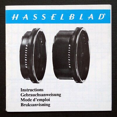HASSELBLAD EXTENSION TUBE 16 & 32mm INSTRUCTIONS MANUAL MULTI LANGUAGES 1977