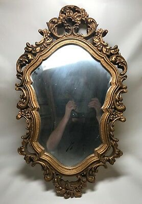 Antique 19th 20th Century Victorian Edwardian Style Gilt Wall or Hall Mirror.