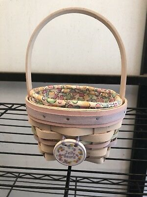 Longaberger 2000 Small Easter Basket Combo Jelly Bean Whitewash