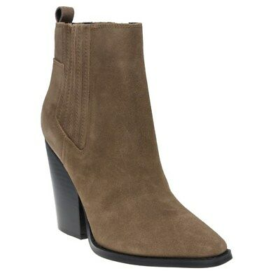 New Womens Kendall + Kylie Tan Natural Colt Suede Boots Ankle Elasticated