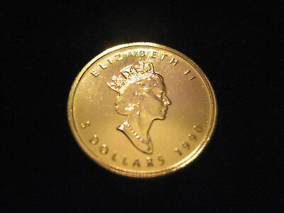 "Mds Kanada Canada 5 Dollars 1990 ""maple Leaf"", Gold"