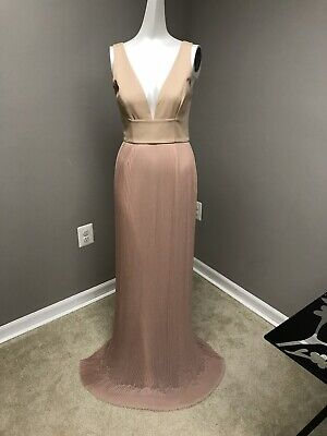 Nicholas accordion pleated gown size 4 $650
