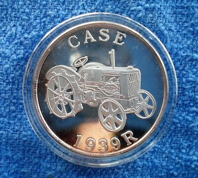 Case Tractor 1939 R Silver Proof Coin - 1 oz. - .999FS