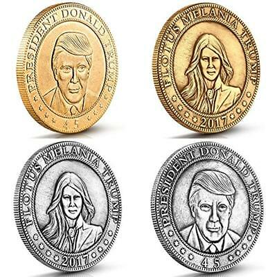 Donald And Coin Collecting Melania Trump Antique Commemorative Coins. These 4 By