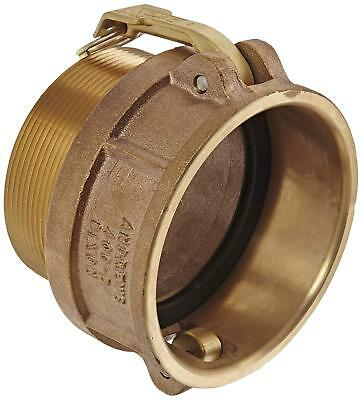 """Dixon 400-B-BR Brass Type B Cam and Groove Hose Fitting 4"""" Socket x 4"""" NPT Male"""