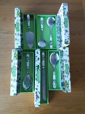 Bargain! New and Boxed-Collection Of Portmeirion Botanic Garden Serving Utensils