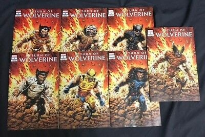 Return Of Wolverine #1 Costume Variant Lot Marvel Comics Modern Age Nm/m Rare