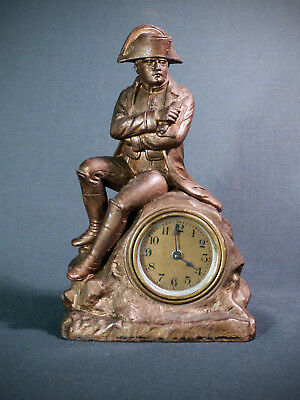 Napoleon - antique figural / statue mantle clock by RUFFONY made in France