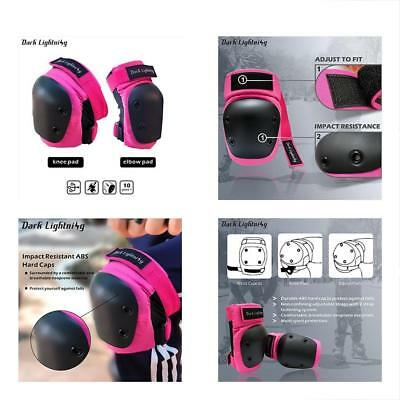 Girl's And Protective Gear Boy's Knee Pad Elbow Pads 2 In 1 Set, For Inline Bike