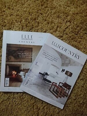 ELLE DECORATION COUNTRY,2 COPIES, VOL.5 and VOL 6,,,, 2015