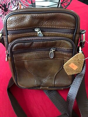 9372a4d91344 SMALL BROWN LEATHER cross body bag - £1.49