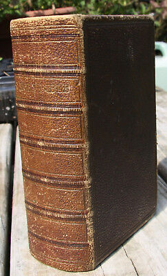 Antique 1868 leather Old & New Testament Bible very nice