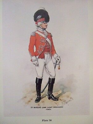 Military Print- Officer 7Th Queen's Own Light Dragoons 1783 By Richard Simkin