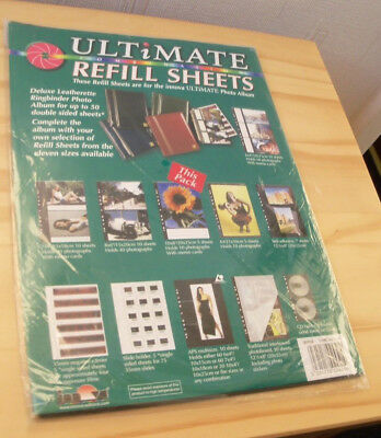 "20 Sheets Innova Ultimate 6x4"" Photo Album Refill Sheets (2 x Pack of 10)"